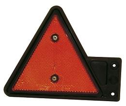 Reflex röd, på gummiarm, vänster
