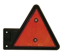Reflex röd, på gummiarm, höger