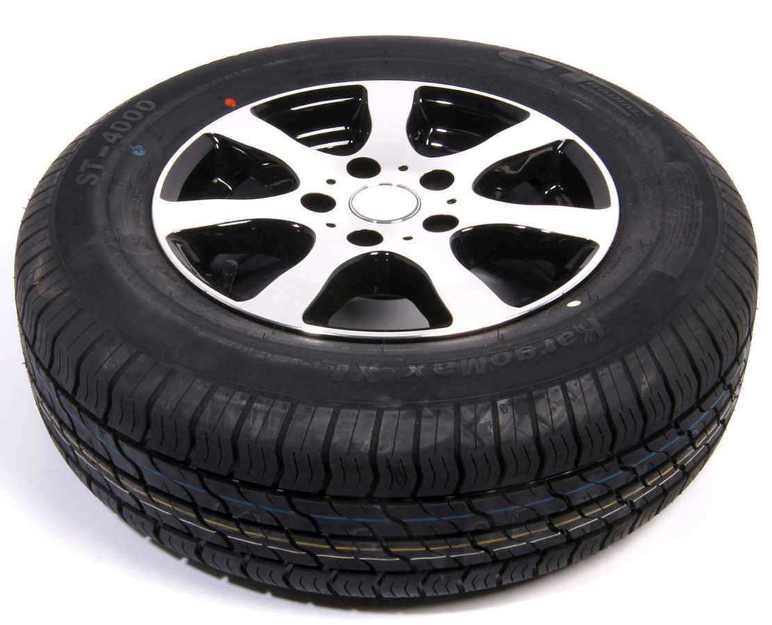 Hjul sommar 155/80R13 XL 4×100 ALU Fälg Svart/Silver
