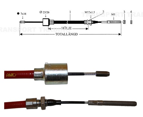 Bromsvajer Alko 1310/1530 H23