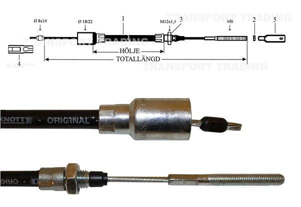 Bromsvajer Knott 1230/1440 H18
